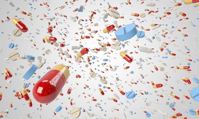 léky, prášky, tablety