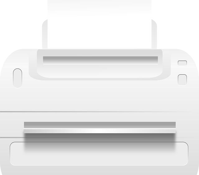 namalovaná tiskárna